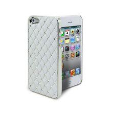 Coque Pour iPhone 5 Satin Chrome & Diamant Blanche  inclus