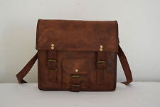 "Small 11"" Mens Vintage Leather CrossBody Messenger Bag iPad/Tab Satchel Handbag"