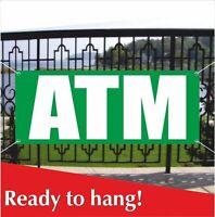 ATM Banner Vinyl / Mesh Banner Sign Flag Cash Machine Money Cards ATM AVAILABLE