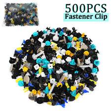 500Pcs Mixed Auto Car Fastener Clip Bumper Fender Trim Plastic Rivet Door