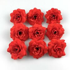 50X 5cm Red Rose Velvet Artificial Flower Head Wedding Party Home Garden Decor