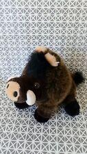 Peluche doudou sanglier marron noir 20 cm Parc Astérix