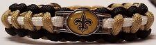 New Orleans Saints Gold, Black, & White Handmade Paracord Bracelet or Lanyard