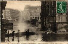 CPA PARIS Gare Saint-Lazare et Place de Rome INONDATIONS 1910 (605702)