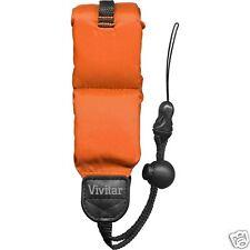New Vivitar Orange Floating Foam Camera Strap Waterproof