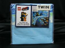 The Lego Movie 2: 3 Piece Twin Sheet Set Microfiber New