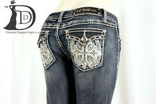 NEW LA IDOL Brand Women's Bootcut Stretch Jeans Size 9 (W:31 x L:34) FLAP POCKET
