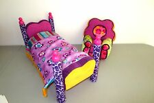 Groovy Girls 4 Poster Bed Comforter & Arm Chair  Furniture Lot C3