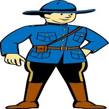 30 Custom Blue Canadian Mountie Personalized Address Labels