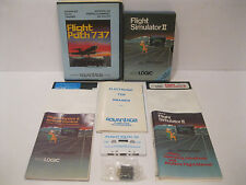 Commodore 64 Flight Simulator II & Flight Path 737 Complete In Box Working C64