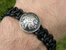 Knot bracelet genuine leather adjustable authentic Buffalo Indian Nickel coin