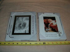 Lot Of 2 Baby Baptism Picture Frames For 4X6 Photos