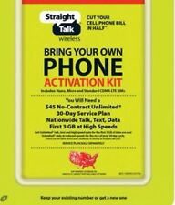 Straight Talk 60 Day Service Activation SIM Card Powered By Verizon Nano Micro