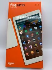 "New Amazon Kindle Fire HD 10"" 32GB Tablet Alexa | 2020 Latest Model | White"