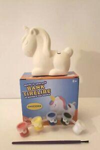 Paint Your Own Ceramic Bank Kit - Kids Arts & Crafts, Piggy Bank, Design & Paint