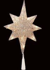 """Silver Nativity Christmas Magi Tree Topper Star Top Topper Wire 14 lights 13.5"""""""