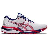 ASICS 1011B107 100 GEL CUMULUS 22 White Classic Red Men's Running Shoes