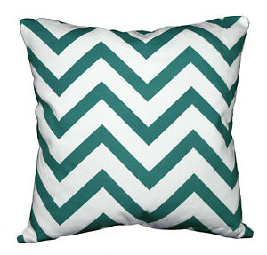 le04a Deep Green On Beige Zig Zag Cotton Canvas Cushion Cover/Pillow Case Size