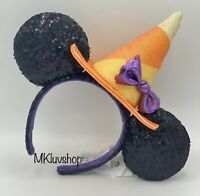 New Disney Parks 2020 Halloween Minnie Mickey Ears Headband Witch Hat In Hand