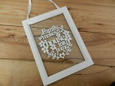 Gisela Graham Shabby Chic Wooden Hanging Frame Family House Home Gift Sign