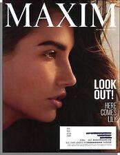 Maxim 202 - 2015, April - Model Lily Aldridge, MK-677, Marketing The AK-47