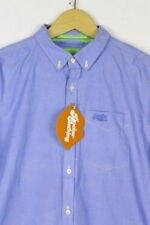 Mens SUPERDRY Shirt LONDON BUTTON DOWN Long Sleeve SLIM Medium EXCELLENT P2