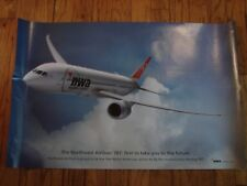 NORTHWEST AIRLINES 787 - POSTER 22 X 34 -