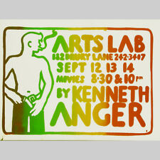 Kenneth Anger. movies in Arts Lab 1968. Design Biddy pepping, EXTREMELY RARE!!!