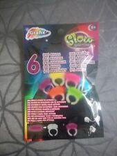 lot de 6 bagues lumineux FLUORESCENT FLUO stick