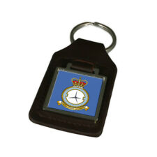 Royal Air Force 8 Fp Wing Engraved Leather Keyring