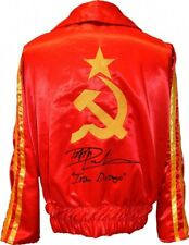 Dolph Lundgren Ivan Drago Autographed ROCKY IV Russian Boxing Jacket ASI Proof