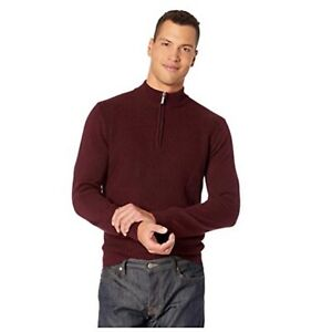 Ben Sherman MENS Shawl Collar FINE GAUGE Sweater MAROON XL 3XL NEW NWT $125