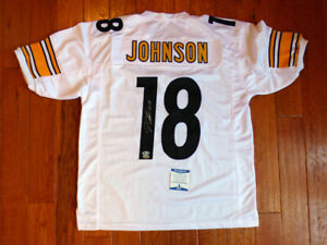 Diontae Johnson Signed Steelers Custom White Jersey Size XL Beckett