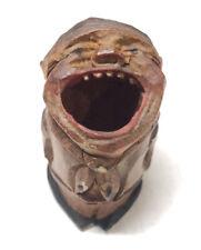 Vintage Anri Hand Craved Big Mouth Toothpick Holder