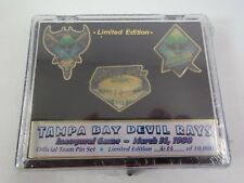 Tampa Bay Devil Rays Official Team Pin Set Inaugural Game 1998 #2,106 of 10000