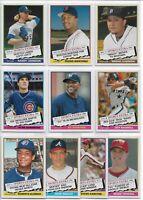 2020 Topps Archives 1976 Topps Traded Complete (10) Card Insert Set Full List