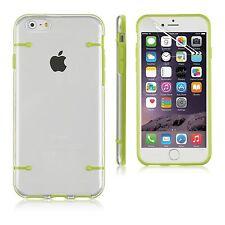Fundas y carcasas bumper de color principal verde de silicona/goma para teléfonos móviles y PDAs