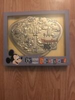DISNEYLAND PARK 65th ANNIVERSARY PARK MAP LIMITED EDITION 1500 JUMBO PIN IN HAND
