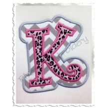 Curlz Double Applique Machine Embroidery Alphabet Font Names Monogram PES DST