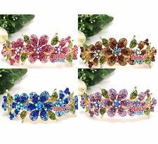 Hot Wholesale 4 pieces elegant rhinestone Flowers hair accessory Barrette clip B