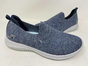 NEW! Skechers Women's Ultra Flex Harmonious Slip On Shoes Navy #13106 201N tz