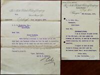 Northern British Railway Company Edinburgh & Glasgow 2 x Letters 1909