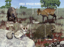 Gambia Wild Animals Stamps 2018 Mnh Small African Mammals Aardvark 4v M/S