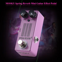 MOSKY Spring Reverb Guitar Effect Pedal Depth Spring Reverb Sound MIX DWELL