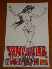 VAMPIRELLA AND THE SCARLET LEGION VOL 1 #4 RI BLACK AND WHITE COVER DYNAMITE