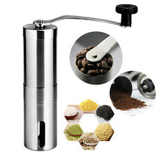 Stainless Steel Hand Manual Coffee Grinder Adjustable Coffee Mill Burr Machines