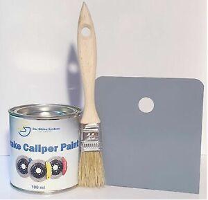 GRAY BRAKE DRUM CALIPER PAINT METAL ENGINE Heat Resistant 250ml Free Brush