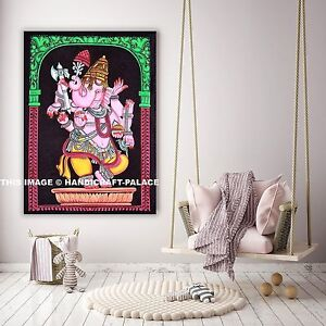 Ganesha Tenture Tapisserie Murale Indien Dieu Bohémien Décoratif