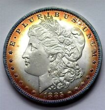 1885-O MORGAN SILVER DOLLAR GEM+ UNCIRCULATED+ DMPL NICE TONING! RARE THIS NICE!