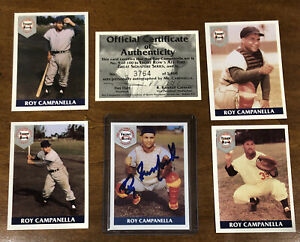 1994 Front Row ROY CAMPANELLA  All-Time Greats Autograph Set With COA